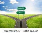 businessman concept  sign alone ... | Shutterstock . vector #388516162