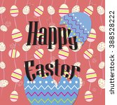 happy easter day background ... | Shutterstock .eps vector #388528222
