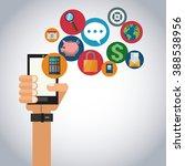 mobile tools design  | Shutterstock .eps vector #388538956