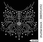 neck line embellishments stud... | Shutterstock .eps vector #388541452