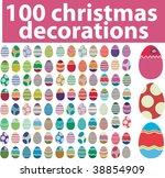 100 christmas decorations.... | Shutterstock .eps vector #38854909
