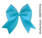 realistic blue gift ribbon | Shutterstock .eps vector #388559416