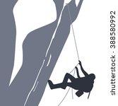 mountain peak hiker | Shutterstock .eps vector #388580992