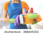 cleaning concept. young woman... | Shutterstock . vector #388605202