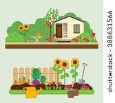 Gardening Set. Vector...