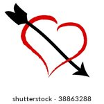 heart and arrow | Shutterstock .eps vector #38863288