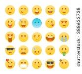 emoticon set. set of flat... | Shutterstock .eps vector #388633738