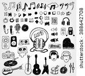 some music doodles   Shutterstock .eps vector #388642708