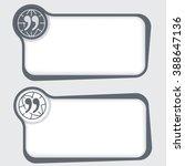 set of two vector text frames... | Shutterstock .eps vector #388647136