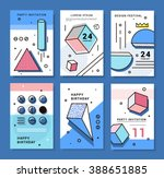 a set of cards with geometric... | Shutterstock .eps vector #388651885