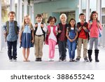 group of elementary school kids ... | Shutterstock . vector #388655242