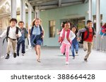 group of elementary school kids ... | Shutterstock . vector #388664428