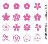 sakura flowers icon set  ... | Shutterstock .eps vector #388670416