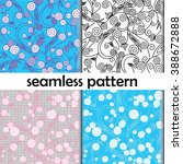 four seamless textures with... | Shutterstock .eps vector #388672888