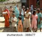 the colorful people of india | Shutterstock . vector #388677