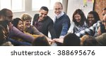 team teamwork join hands... | Shutterstock . vector #388695676