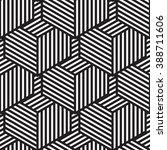 seamless geometric pattern in... | Shutterstock .eps vector #388711606