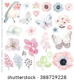 collection vector flowers ... | Shutterstock .eps vector #388729228