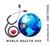 vector illustration world heart ... | Shutterstock .eps vector #388734406