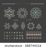 sacred geometry. set of minimal ... | Shutterstock .eps vector #388744216