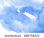 splatter wave watercolor blue... | Shutterstock .eps vector #388758322