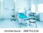 hospital room with beds and... | Shutterstock . vector #388761226