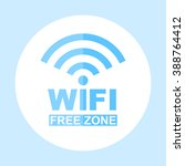 icon wi fi free zone. vector... | Shutterstock .eps vector #388764412