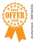 best offer icon on a white ... | Shutterstock .eps vector #388766446