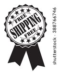 free shipping icon on a white ... | Shutterstock .eps vector #388766746