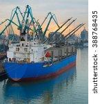Industrial Ship In Batumi...