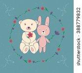 vector illustration  bunny and... | Shutterstock .eps vector #388779832