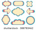 colorful design retro frames or ... | Shutterstock .eps vector #388783462