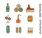 set of whisky icons. modern... | Shutterstock .eps vector #388784458