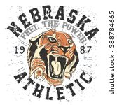 roaring tiger .vector graphics... | Shutterstock .eps vector #388784665