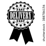 fast delivery icon on a white ... | Shutterstock .eps vector #388786156