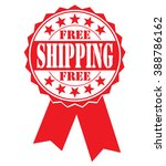 free shipping icon on a white ... | Shutterstock .eps vector #388786162