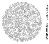 pattern for coloring book with...   Shutterstock .eps vector #388786312