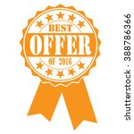best offer of 2016  icon on a... | Shutterstock .eps vector #388786366