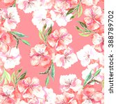 apple blossom seamless pattern | Shutterstock . vector #388789702