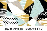 abstract hand drawn geometric... | Shutterstock .eps vector #388795546