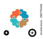 gear shape puzzle logo or... | Shutterstock .eps vector #388796068