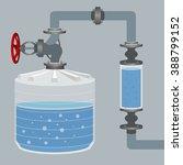 Infographics Scheme With Liquid ...