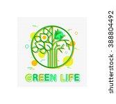green life concept. vector... | Shutterstock .eps vector #388804492
