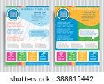book icon on vector brochure...   Shutterstock .eps vector #388815442