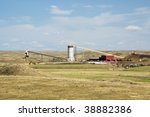 loadout silos in the powder... | Shutterstock . vector #38882386