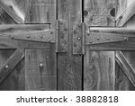A wood texture background in black and white. - stock photo