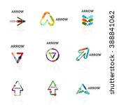 set of linear arrow abstract... | Shutterstock .eps vector #388841062