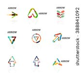 set of linear arrow abstract... | Shutterstock .eps vector #388841092