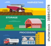 farming horizontal banner... | Shutterstock .eps vector #388841578
