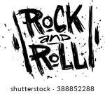 hand draw sketch rock and roll...   Shutterstock .eps vector #388852288